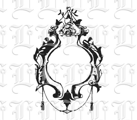 oval frame tattoo design. Ornamental Victorian Oval Frame Printable Image Tattoo Design U