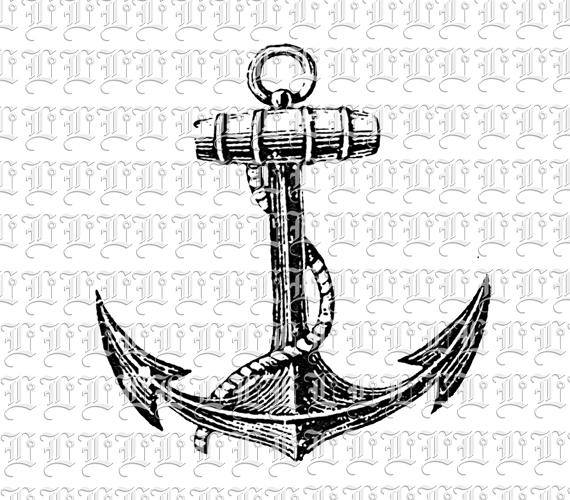 Anchor Vintage Clip Art Illustrations High Resolution 300 Dpi
