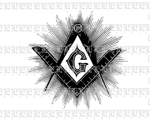 New World Order Masonic Symbol Vintage Clip Art Illustration High